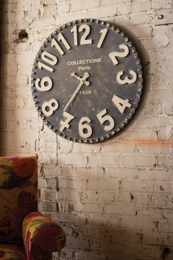 oversized vintage clock
