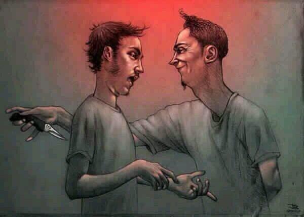 ditusuk teman sendiri