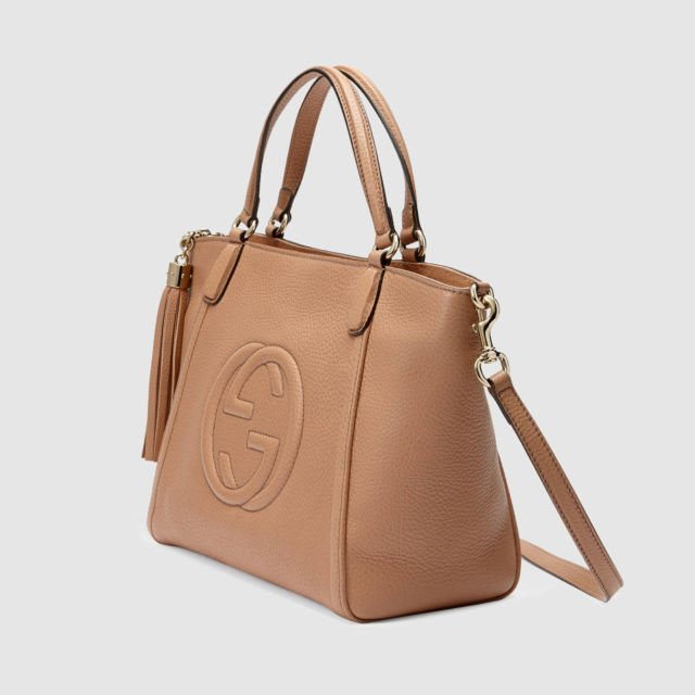 Top-Handle Leather Bag