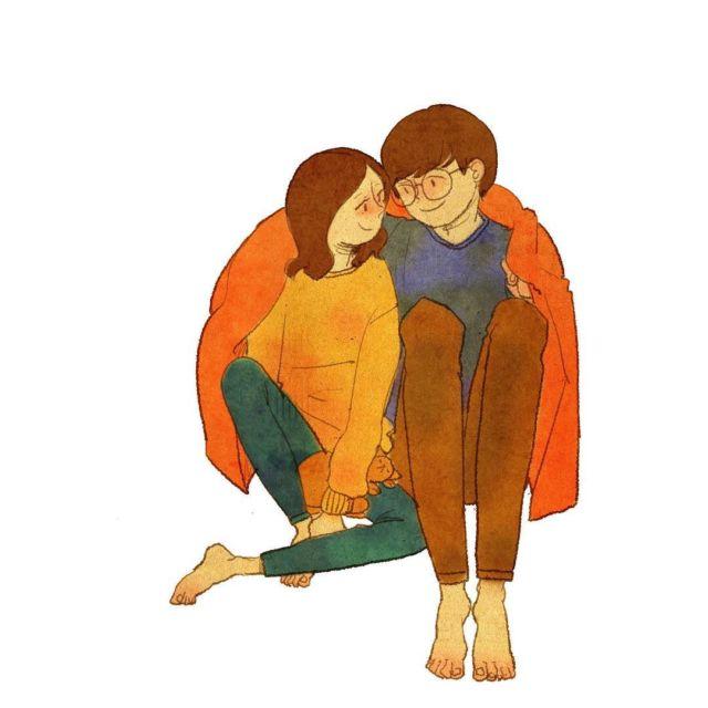 29 Ilustrasi Lucu Yang Ingatkan Kita Soal Momen Spesial Bareng Kekasih Duh Bikin Baper Nggak Sih