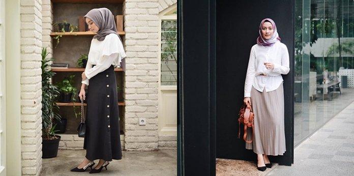 9 Inspirasi Busana Dan Hijab Ini Akan Membuatmu Terlihat Lebih