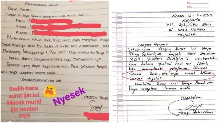 11 Surat Izin Nggak Masuk Sekolah Ini Kelewat Jujur Pasti Gurunya Sedih Sekaligus Ngakak Deh