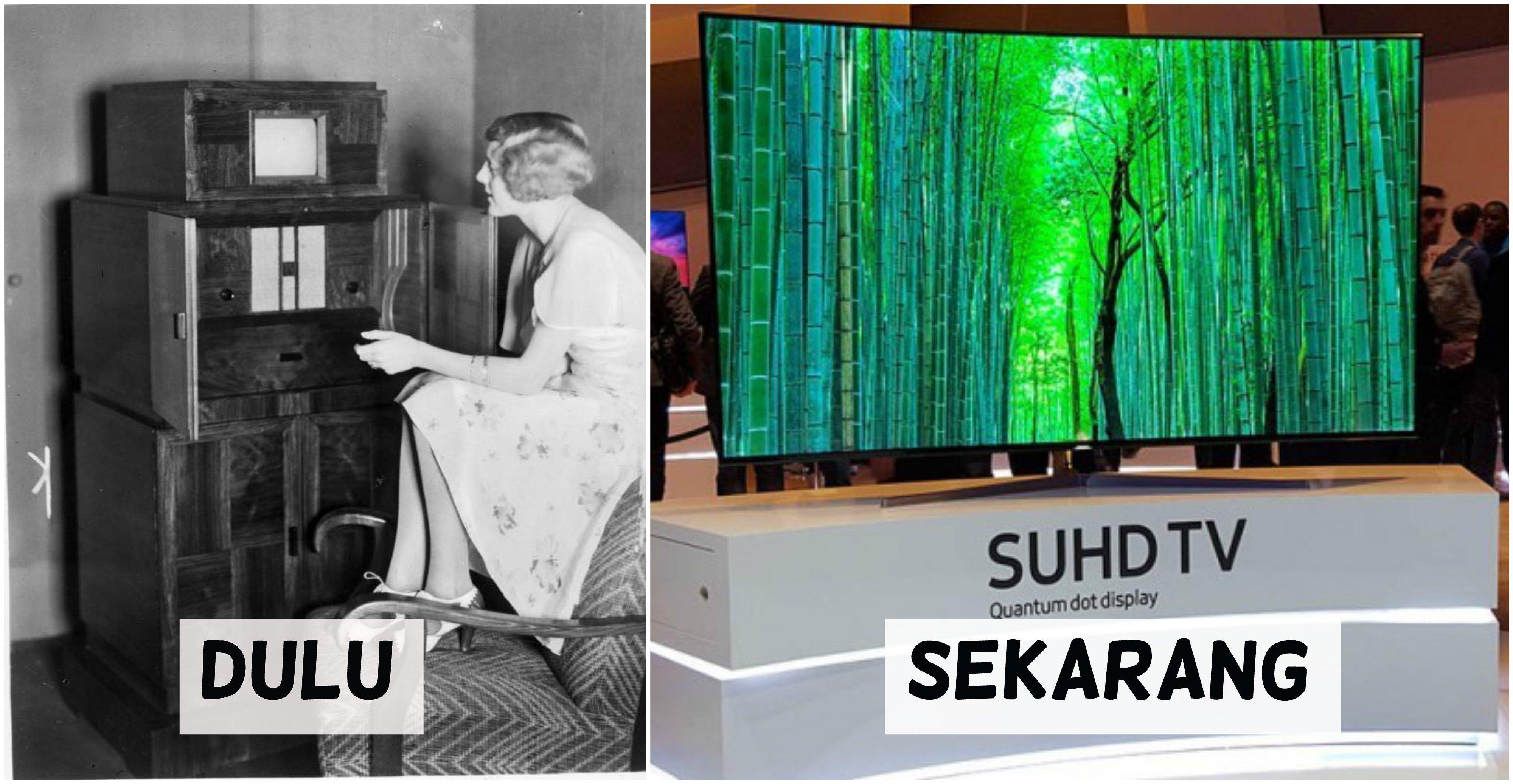 Layar televisi dulu pernah sekecil itu dengan mesin sebesar itu, sekarang? hmmm