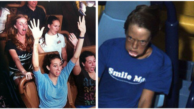 10 Foto Ekspresi Penumpang Roller Coaster Ini Bikin Ketawa Ngakak Kocak Banget Sih Ini