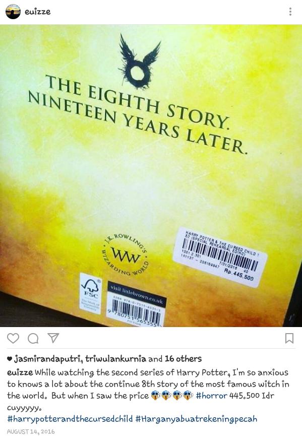 Harga Novel Harry Potter di toko buku