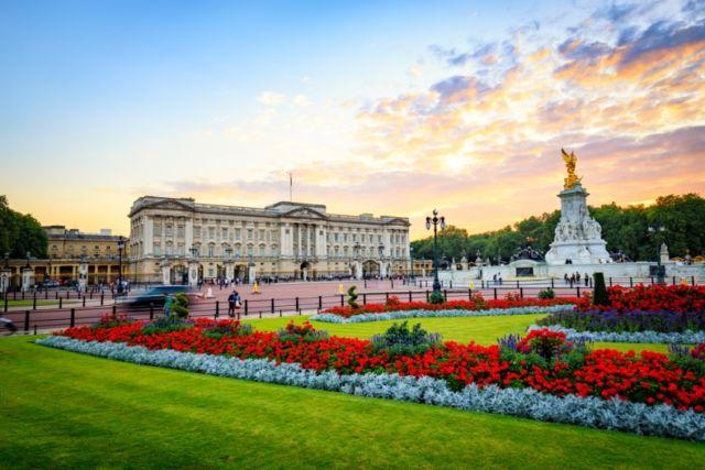 Senja di Buckingham Palace