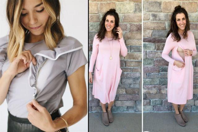 5 Model Baju Menyusui Modis Dengan Akses Bukaan Nenenin Di Tempat