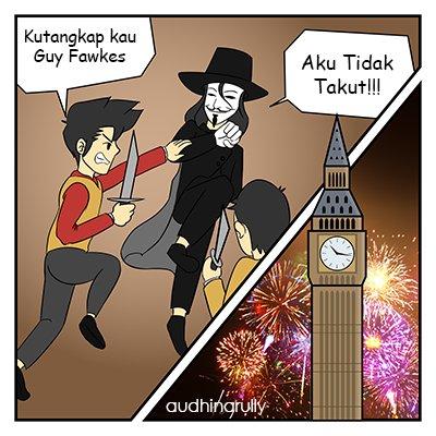 Kegagalan Guy Fawkes - Ilustrasi Penulis