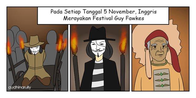Festival Guy Fawkes - Ilustrasi Penulis