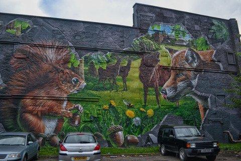 Mural di Ingram Street Car Park