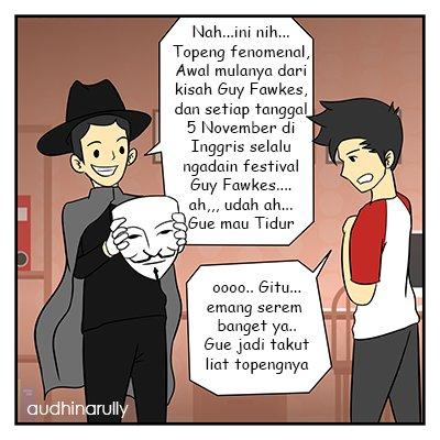 Topeng Guy Fawkes - Ilustrasi Penulis