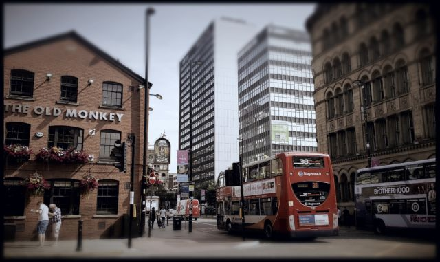 Salah satu sudut di pusat kota Manchester