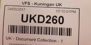 Nomor antrian pengambilan passport