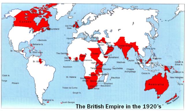 peta negara jajahan Inggris di dunia