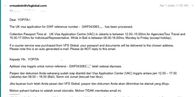 Email dari VFS
