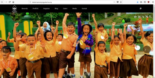 Tampilan Web Kelas Inspirasi