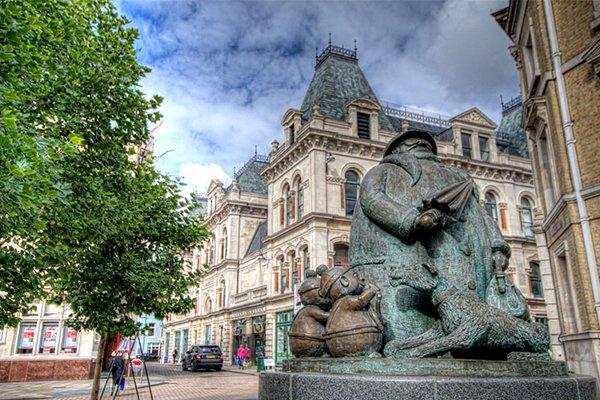 The Giles statue