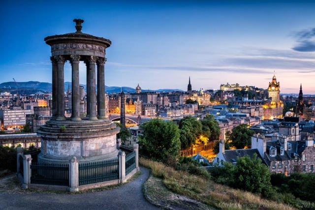 Calton Hill Edinburgh, Skotlandia