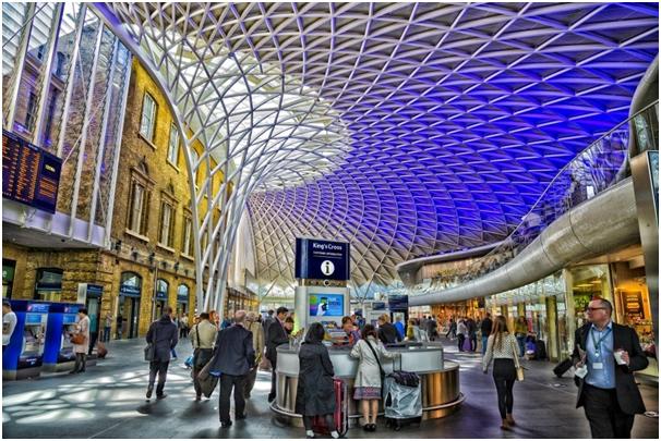 London King's Cross Railway Station in London
