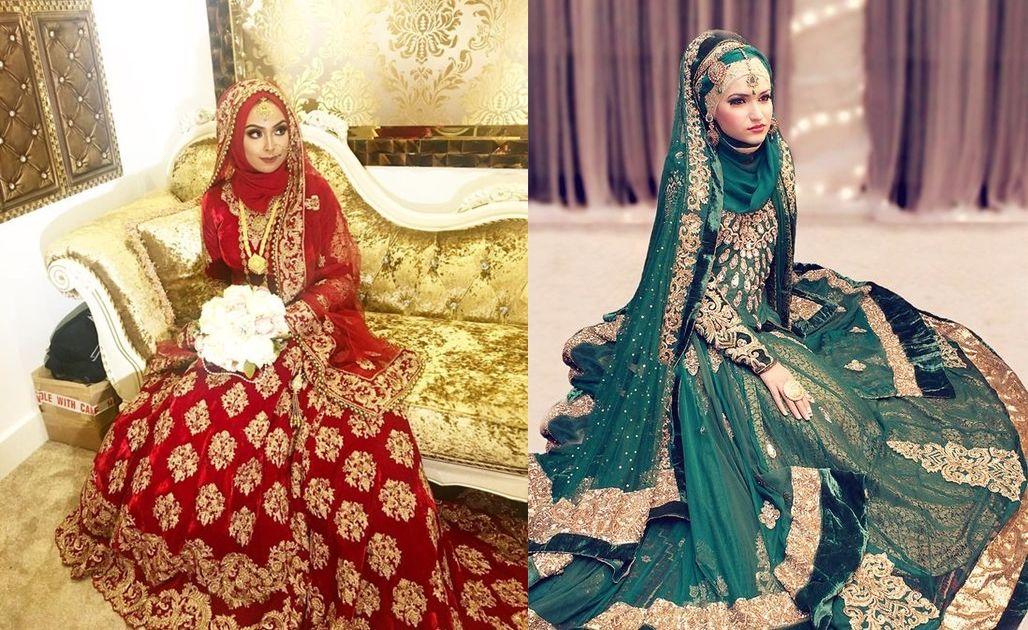 12 Inspirasi Busana Pengantin India Berhijab Yang Menawan Hati Saatnya Tampil Glamor Dan Santun Kala Jadi Ratu Sehari