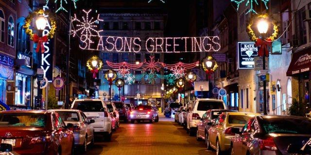 Gemerlap Oxford Street ketika natal