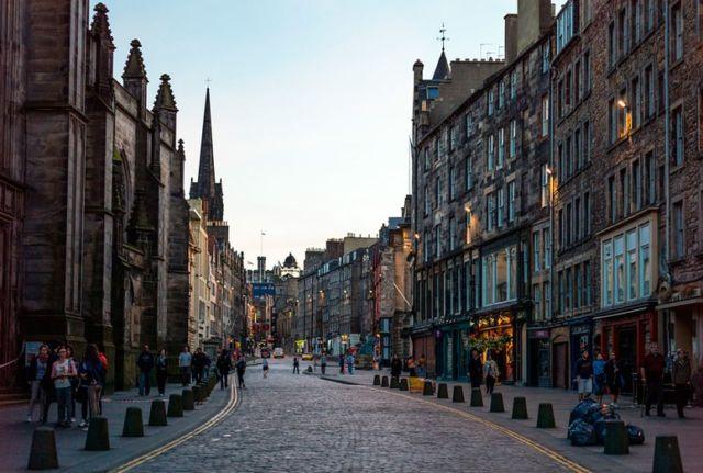 jalanan di Skotlandia