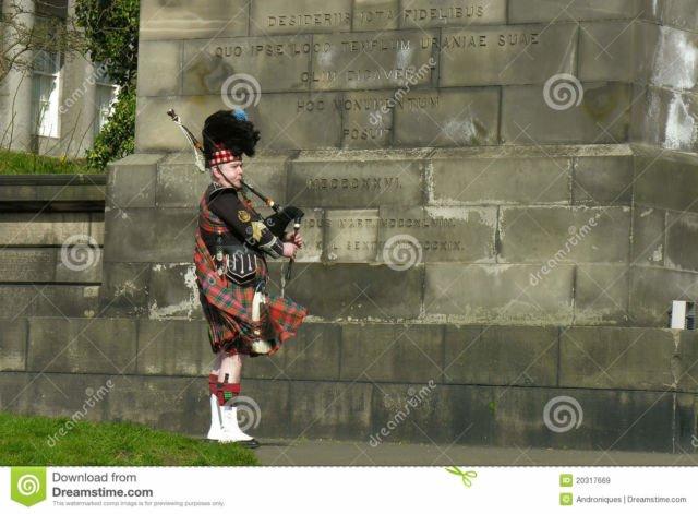 Street musician of Edinburgh