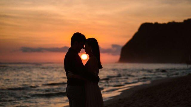 Sunset in Melasti Beach