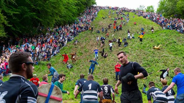 Cooper's hills cheese rolling and wake