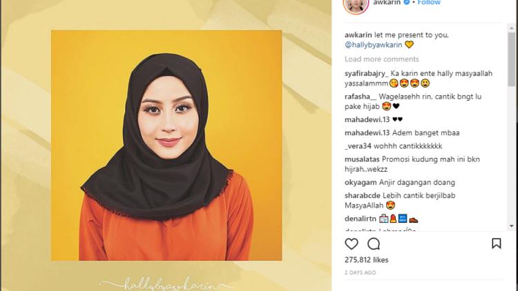Menebak Alasan Awkarin Berjualan Hijab Sekaligus Jadi Modelnya Bisnis Saja Atau Keinginan Tulus Ya