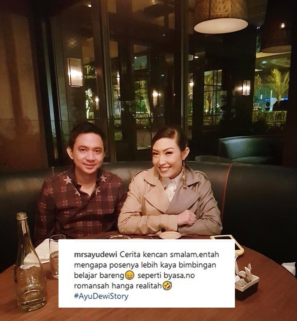 13 Caption Kocak Ayu Dewi Bareng Suami Meski Sudah Nikah