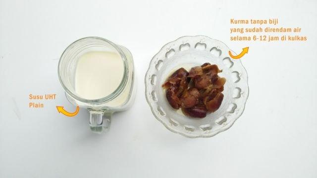 Bahan-bahan susu kurma