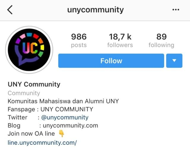 Instagram Uny Community