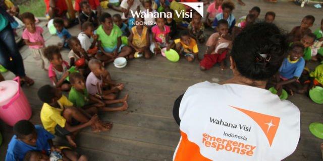 seorang pekerja sosial di Asmat, Papua