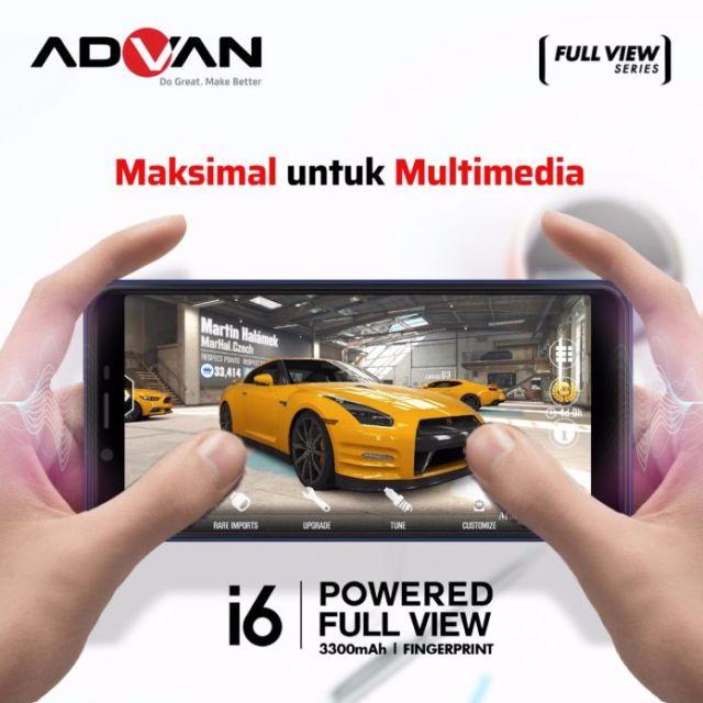 Advan i6 punya layar full view display HD 5,5 inchi dengan rasio 18:9