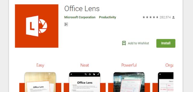 Aplikasi Office Lens