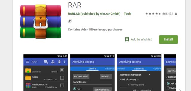 Aplikasi RAR