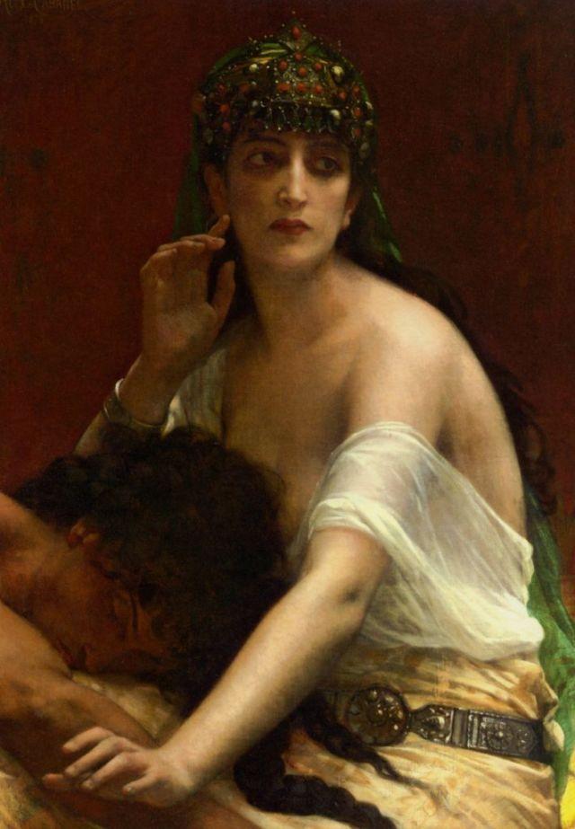 Ilustrasi sosok Delilah pada lukisan Alexandre Cabanel