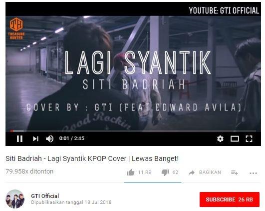 Screencap Video Cover Lagi Syantik