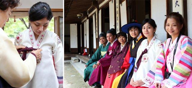 Trying Hanbok