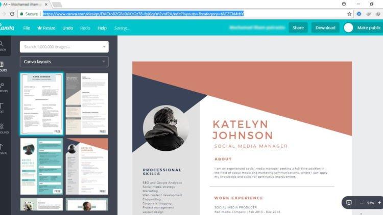 6 Situs Penyedia Desain Cv Gratis Yang Bikin Lamaran Kerjamu Kian