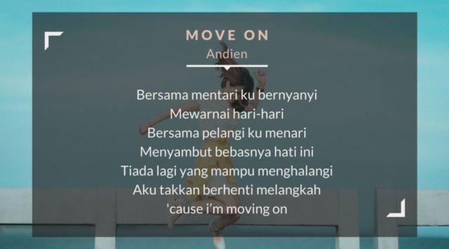 Lirik lagu move on - Andien