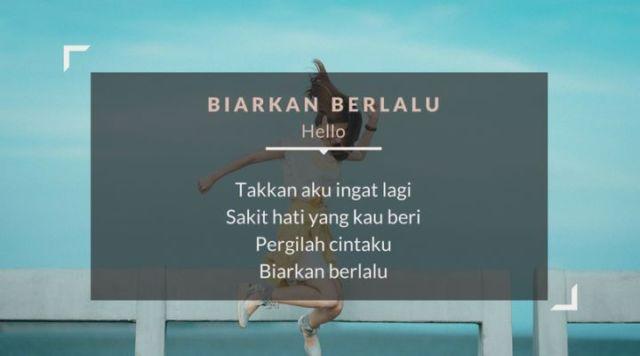 lirik lagu biarkan berlalu - Hello