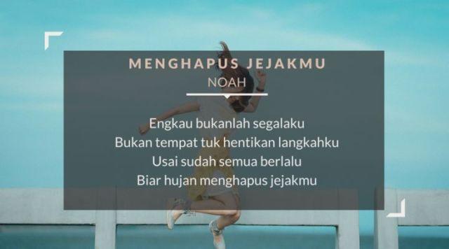 lirik lagu menghapus jejakmu - Noah