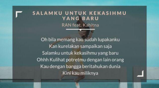 lirik lagu salamku untuk kekasihmu yang baru