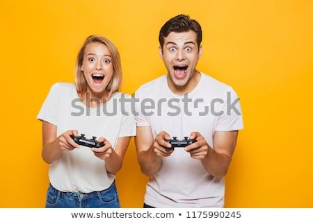 Happy Excited Young Loving Couple