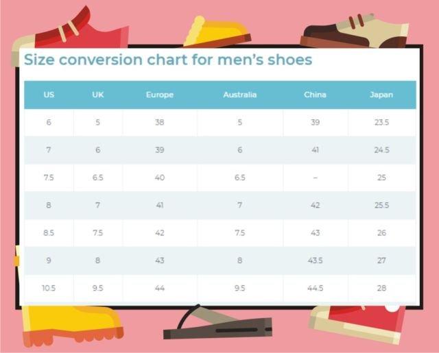 Ukuran Sepatu Indonesia Dan Luar Negeri Berbagai Ukuran