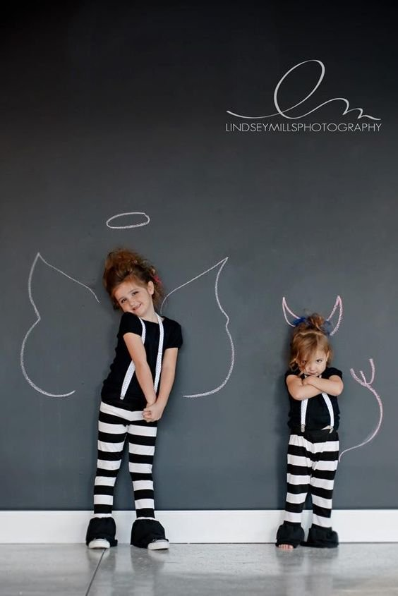 be an angel or a devil...
