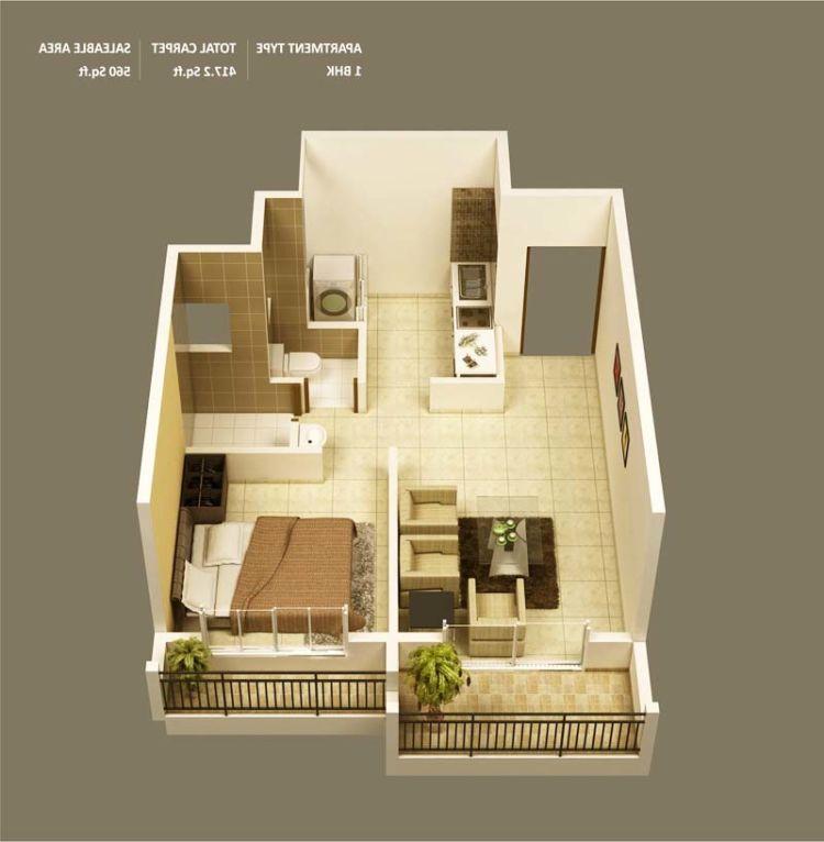 10+ Ide Denah Rumah Pavilliun Minimalis 1 Kamar, Buatmu Pengantin Baru Atau  Yang Masih Melajang