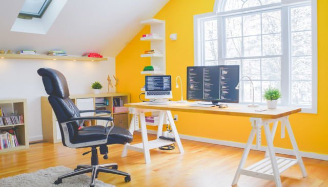 Yellow Home Office